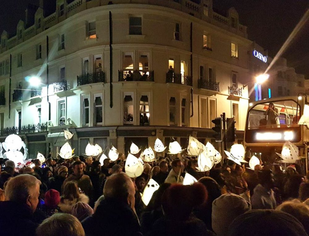 BRIGHTON'S BURNING OF THE CLOCKS