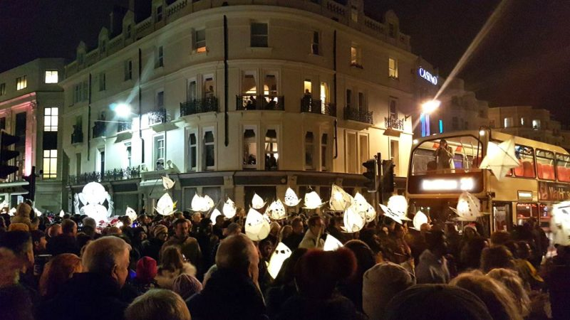 Brighton burning of the clocks