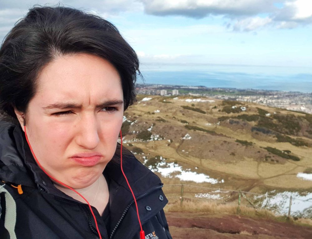 After I saw Nicola Sturgeon I took my trousers off on Arthur's Seat