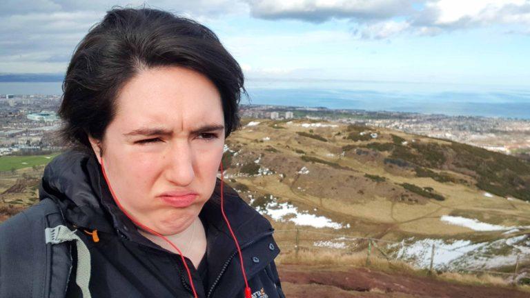 Jenna on Arthur's Seat Edinburgh